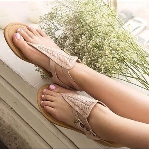 Shoes - RILEY Boho Sandal - TAUPE